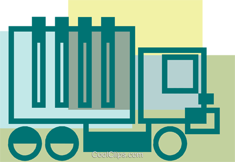 Transport Trucks Royalty Free Vector Clip Art illustration vc080882