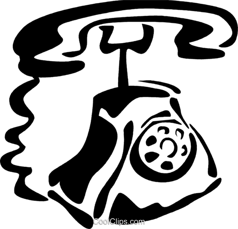 Home Phones Royalty Free Vector Clip Art illustration vc081875
