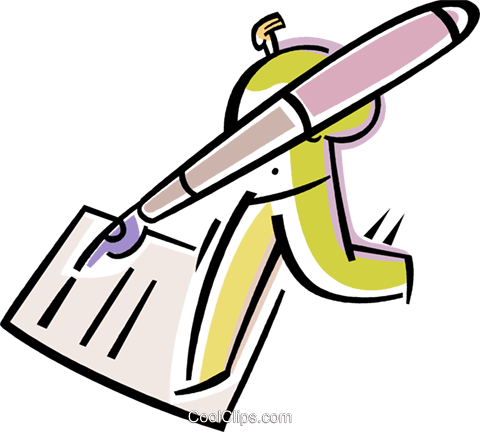 Business Contracts Royalty Free Vector Clip Art illustration vc082257