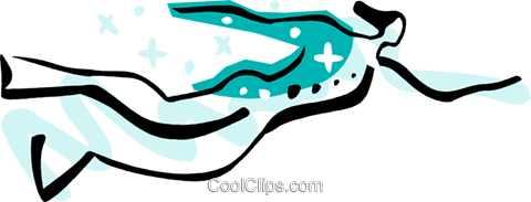 Swimming Royalty Free Vector Clip Art illustration vc082453