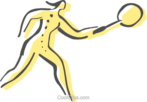 Badminton player Royalty Free Vector Clip Art illustration vc082459