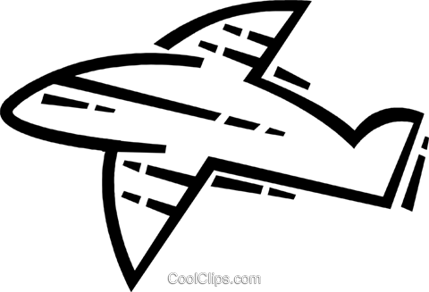Commercial Jets Royalty Free Vector Clip Art illustration vc082826