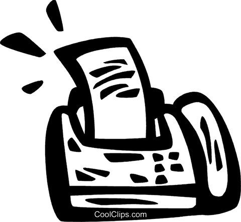 Fax Machines Royalty Free Vector Clip Art illustration vc083111
