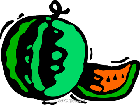 Watermelons Royalty Free Vector Clip Art illustration vc083158