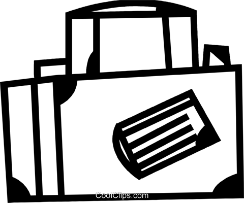 Luggage and Storage Royalty Free Vector Clip Art illustration vc083726