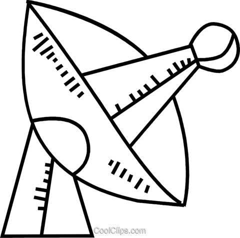 Satellite Dish Royalty Free Vector Clip Art illustration vc084266