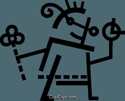 儿童夏季 免版税矢量剪贴画插图