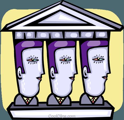 银行 免版税矢量剪贴画插图