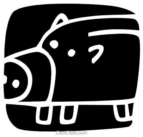 Piggy Banks Royalty Free Vector Clip Art illustration vc085717