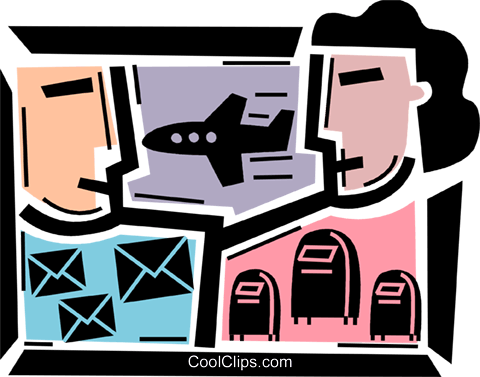 Airmail Royalty Free Vector Clip Art illustration vc085812