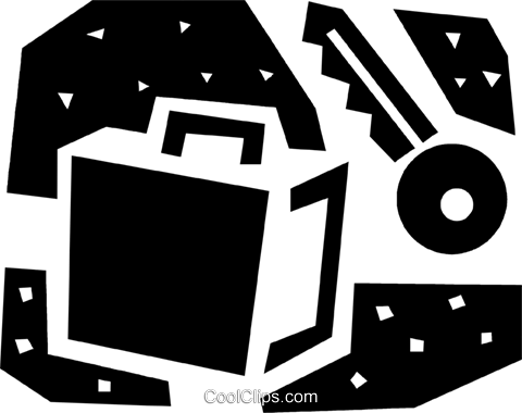 Vaults and Safes Royalty Free Vector Clip Art illustration vc086045