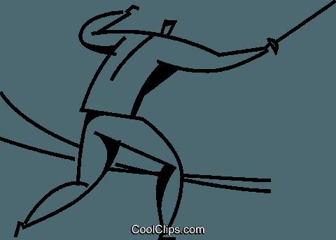 击剑运动员 免版税矢量剪贴画插图