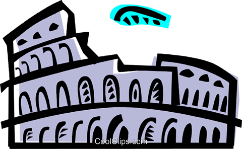 Roman Coliseums Royalty Free Vector Clip Art illustration vc086954
