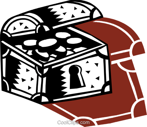Treasure Chests Royalty Free Vector Clip Art illustration vc087146