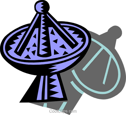 Satellite Dish Royalty Free Vector Clip Art illustration vc087168