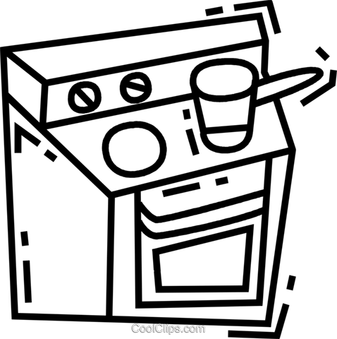 Electric Ovens Royalty Free Vector Clip Art illustration vc088605
