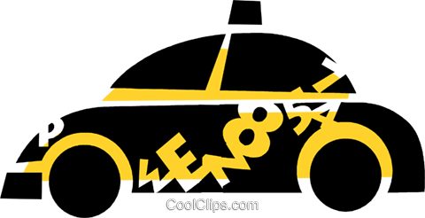 Taxis Royalty Free Vector Clip Art illustration vc088816