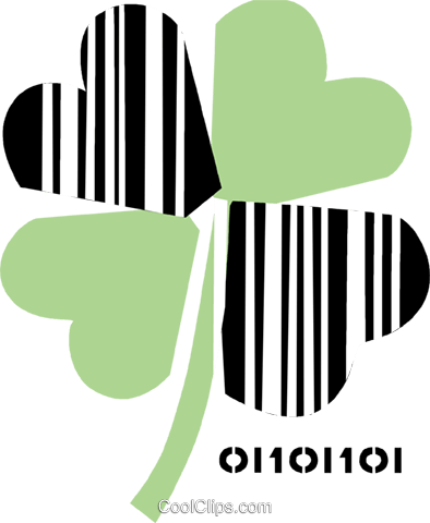 Shamrocks Royalty Free Vector Clip Art illustration vc089125