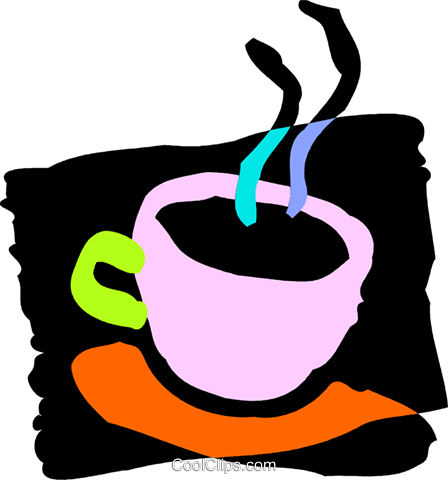 Cups of Coffee Royalty Free Vector Clip Art illustration vc089171