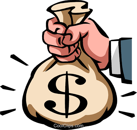 Money Bags Royalty Free Vector Clip Art illustration vc089666