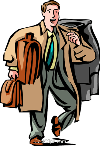 Business Travel Royalty Free Vector Clip Art illustration vc089680