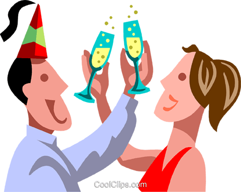 New Year's Day Royalty Free Vector Clip Art illustration vc090473