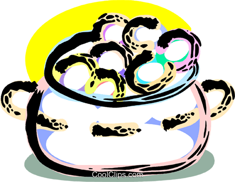 Pot of gold Royalty Free Vector Clip Art illustration vc090590