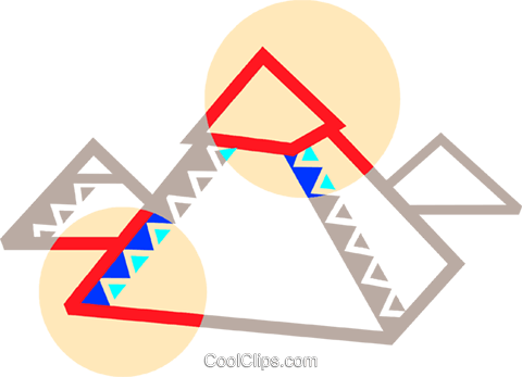 The great pyramids Royalty Free Vector Clip Art illustration vc090786