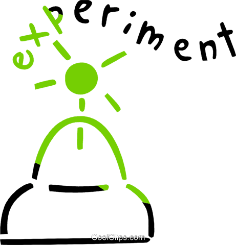 Science Experiment Royalty Free Vector Clip Art illustration vc090972