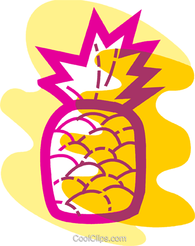 Pineapple Royalty Free Vector Clip Art illustration vc091101