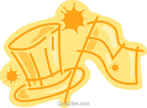 Uncle Sam's hat and US flag Royalty Free Vector Clip Art illustration vc091156