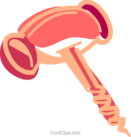 Corkscrew Royalty Free Vector Clip Art illustration vc091952
