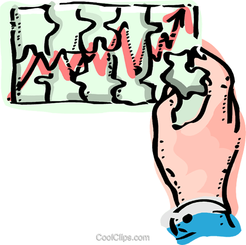 Charting Success Royalty Free Vector Clip Art illustration vc092434