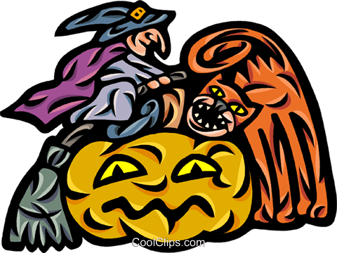 Pumpkins Royalty Free Vector Clip Art illustration vc092599