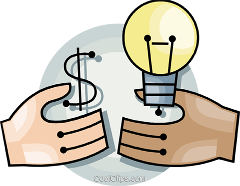 Hands with idea concept Royalty Free Vector Clip Art illustration vc092701