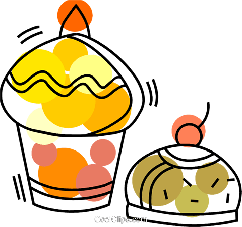 Muffins Royalty Free Vector Clip Art illustration vc092725