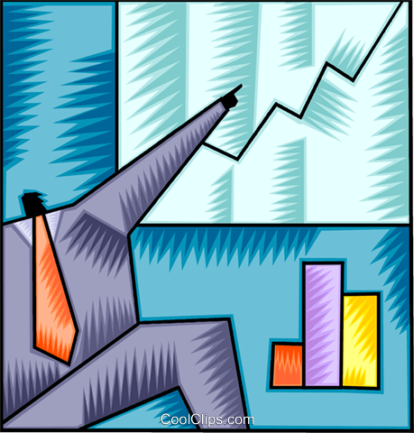 Charting Success Royalty Free Vector Clip Art illustration vc093078