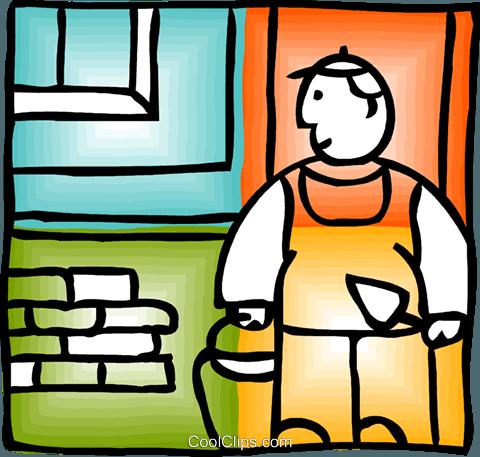 超清泥粘贴画-刀 免版税矢量剪贴画插图