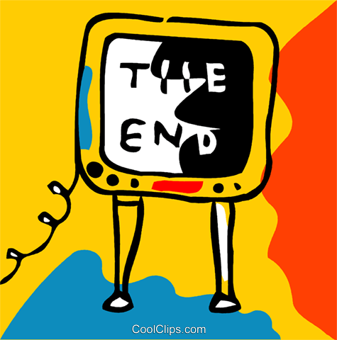 Television with the end Royalty Free Vector Clip Art illustration vc093166