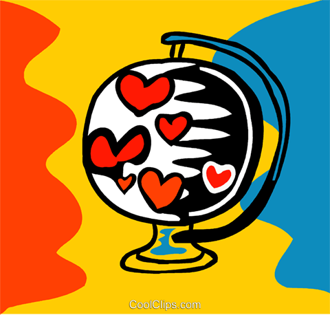 Heart globe Royalty Free Vector Clip Art illustration vc093169