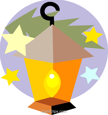 Christmas lantern Royalty Free Vector Clip Art illustration vc093181