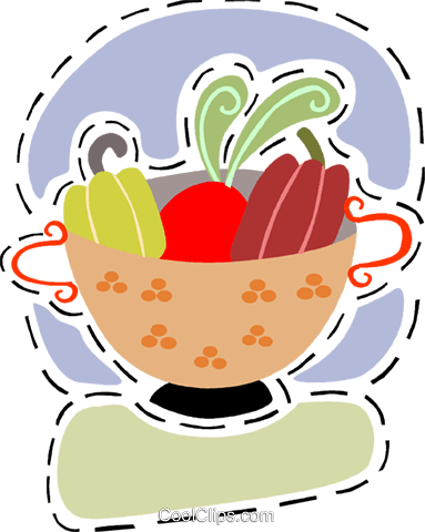 Fruit bowl Royalty Free Vector Clip Art illustration vc093191