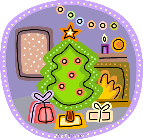 Christmas Trees Royalty Free Vector Clip Art illustration vc093196