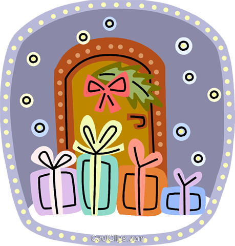 Christmas Presents Gifts Royalty Free Vector Clip Art illustration vc093199
