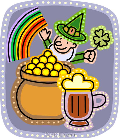 Leprechauns Royalty Free Vector Clip Art illustration vc093204