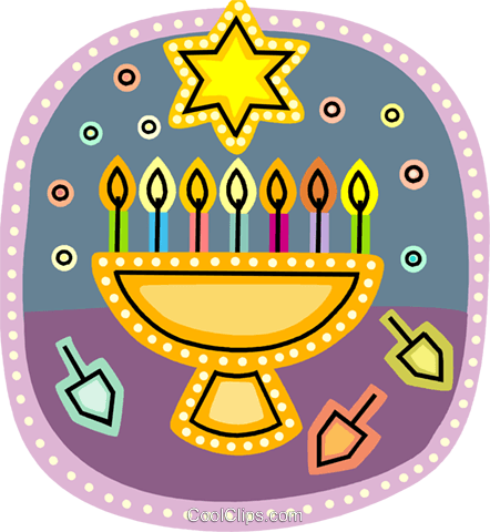Menorahs Royalty Free Vector Clip Art illustration vc093206