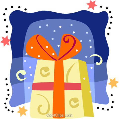 Colorful present Royalty Free Vector Clip Art illustration vc093222