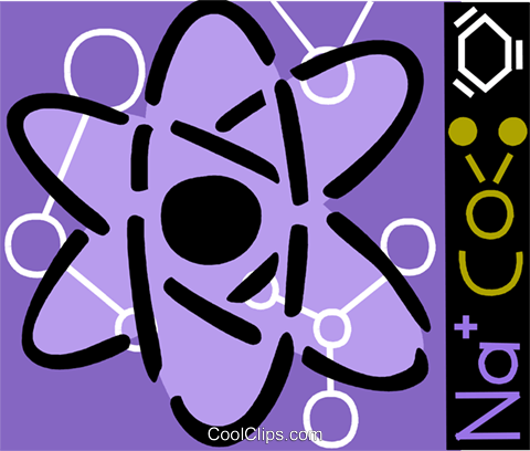 Atoms Royalty Free Vector Clip Art illustration vc093228