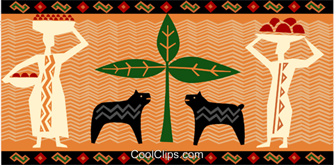 Africa Royalty Free Vector Clip Art illustration vc093251