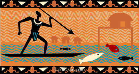 Fisherman Royalty Free Vector Clip Art illustration vc093255